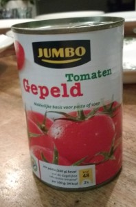 Test gepelde tomaten in blik - Blikje Jumbo Huismerk gepelde tomaten