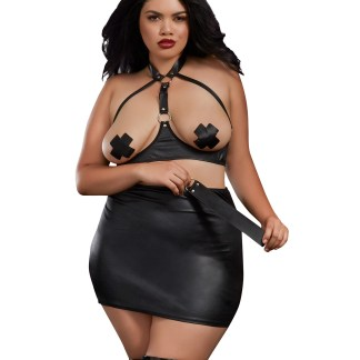 Plus size open bra