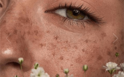 fake freckles makeup