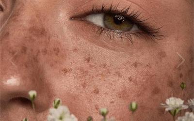 fake freckles makeup
