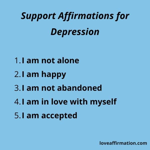 support affirmations for depression