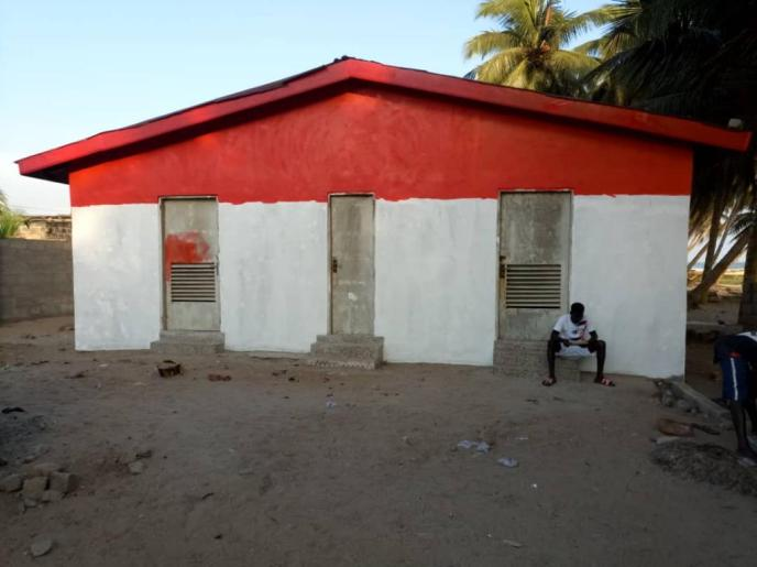 Love Africa Project communal public latrine building painting starts