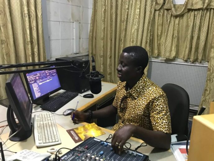 Cape Coast radio station host interviews Love Africa Project founders about their public washroom build to end open defecation in Saltpond, Ghana