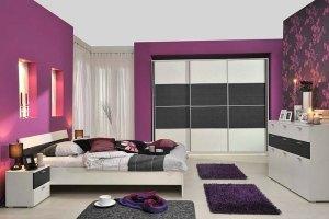 purple bedroom chambre couleurs peinture bedrooms coucher chambres lavande warna rumah cat pourpre decoration toutes teenage any rooms elegant violet