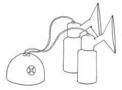 Breast pumps - double electric