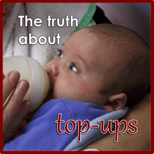 The truth about top-ups in breastfed babies