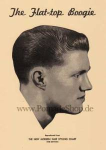 At one time, the style was so popular it had its own song (circa 1958, image courtesy of the pomadeshop.de)