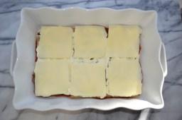 Top with 6 slices of mozzarella.
