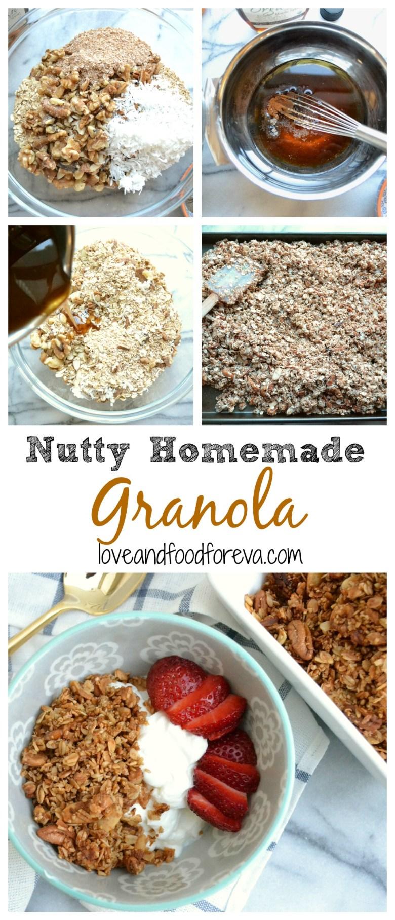 Nutty Homemade Granola - perfect for breakfast, snacks, or dessert!