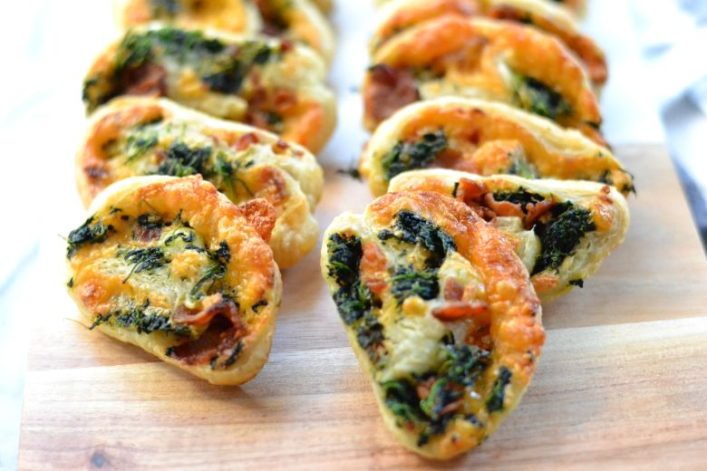 Spinach Bacon Cheddar Palmiers