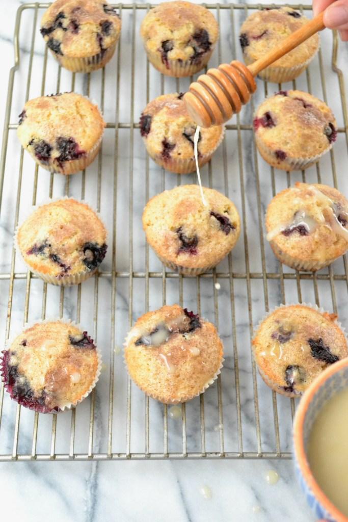 Dairy Free Blueberry Muffins_glaze