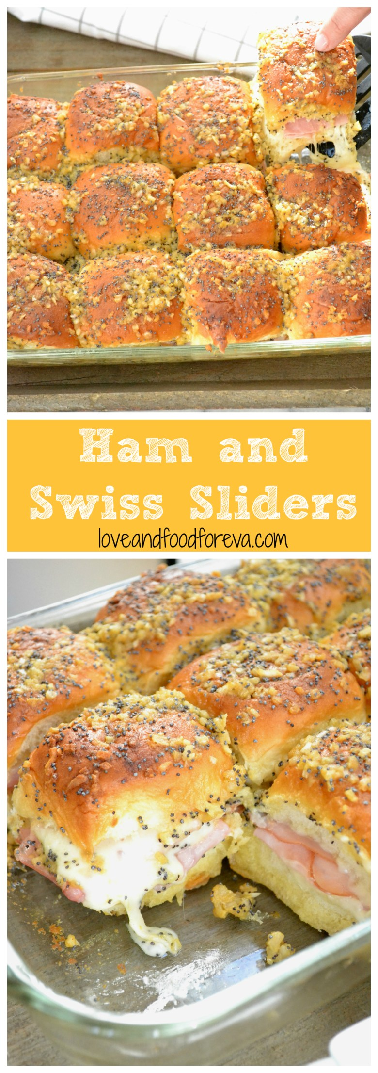 Ham and Swiss Sliders: these are a must-have at your game day party!