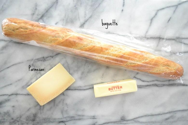 Parmesan Toasts Ingredients