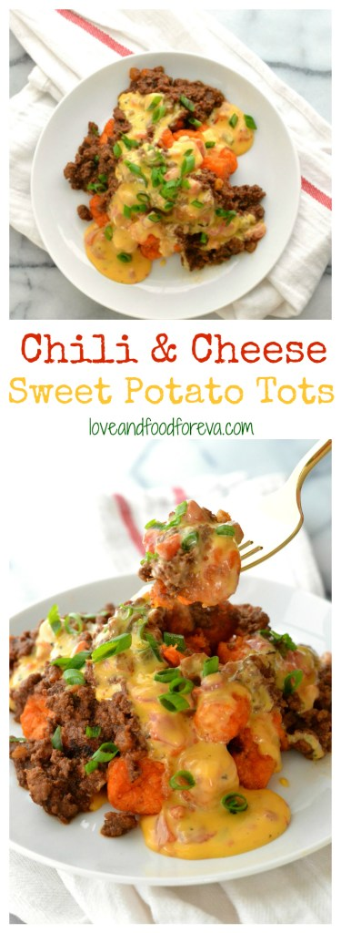 Chili & Cheese Sweet Potato Tots are out-of-this-world delicious and SO easy to make!