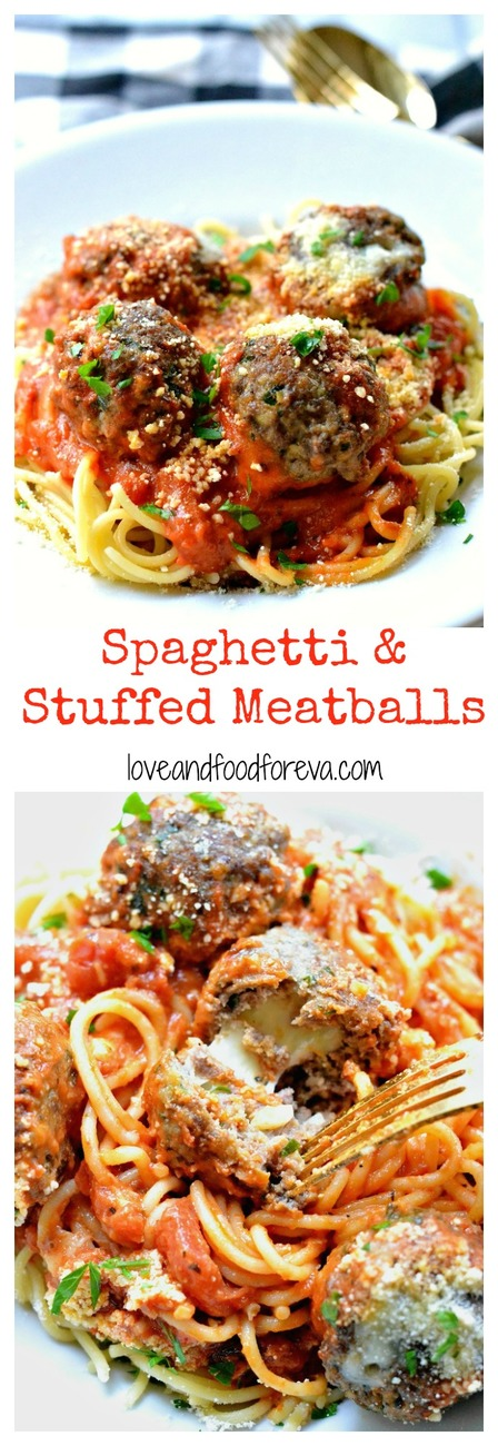 Everyone loves a classic spaghetti dish, but stuffing meatballs with mozzarella makes it extra special!