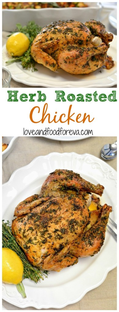 If you're looking for a fool-proof, yet delicious, substitute for turkey this Thanksgiving, look no further! This Herb Roasted Chicken is fragrant, juicy, and so flavorful...you'll be fighting over leftovers!
