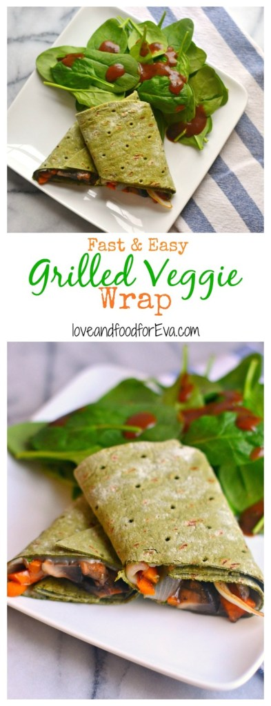 This Grilled Veggie Wrap is the perfect fast and easy meal when you're hungry and in need of something extra nutritious!