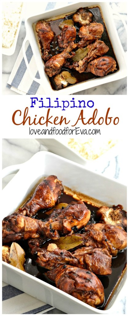 Chicken Adobo is a staple in Filipino cuisine - so simple, so easy, and so amazingly delicious! It'll become one of your favorite go-to's!