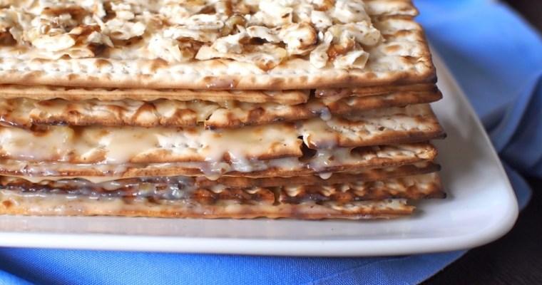 Layered Matzah Cake