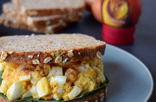 Love and Deviled Egg Salad with Sabra Honey Mustard Spread