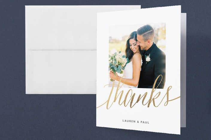 Wedding Thank You For Gift Card