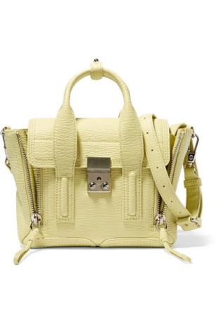 3.1 Phillip Lim Pashli Mini Textured Trapeze Bag $695