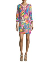 Trina Turk Multi Color Shift Dress
