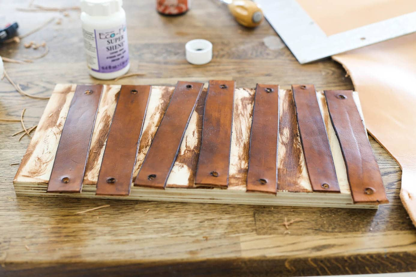 how do you fix a hole in leather sofa j kalachand easy diy drawer pulls love and renovations