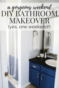 Weekend Bathroom Makeover Reveal | Love & Renovations