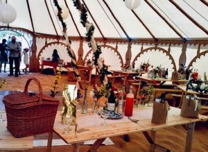 picnic in a yurt