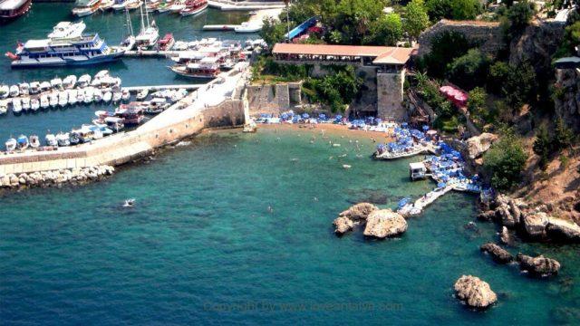 mermerli beach from restaurant