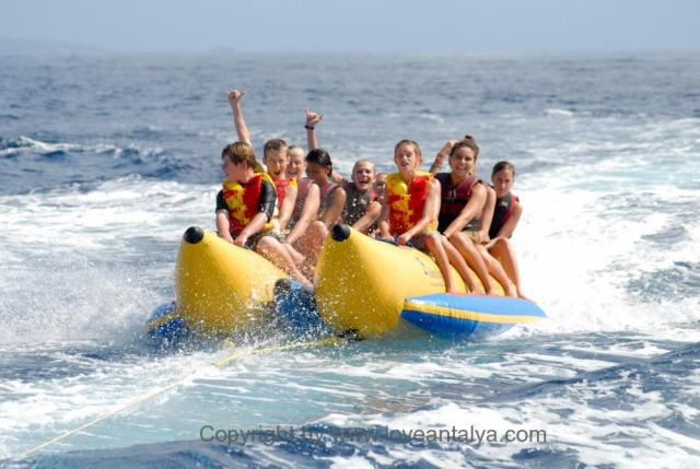 lara beach banana boat