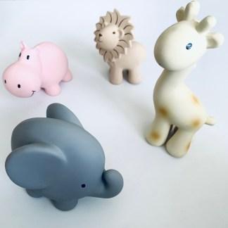 Tikiri 100% natural rubber Toys || Meiya and Alvin