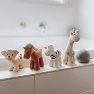 Tikiri Bath Toys || Hevea Rubber toys || Comforters & Organics