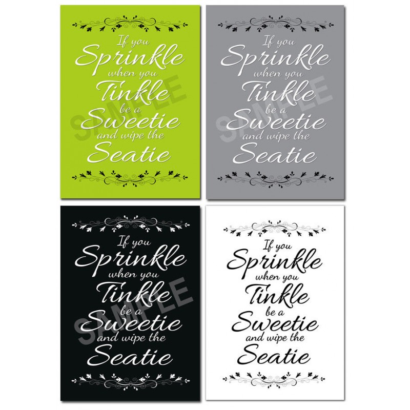 Bathroom Wall Art Posters X10 If You Sprinkle When You Tinkle