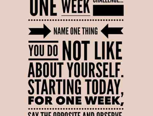 self love one week challenge