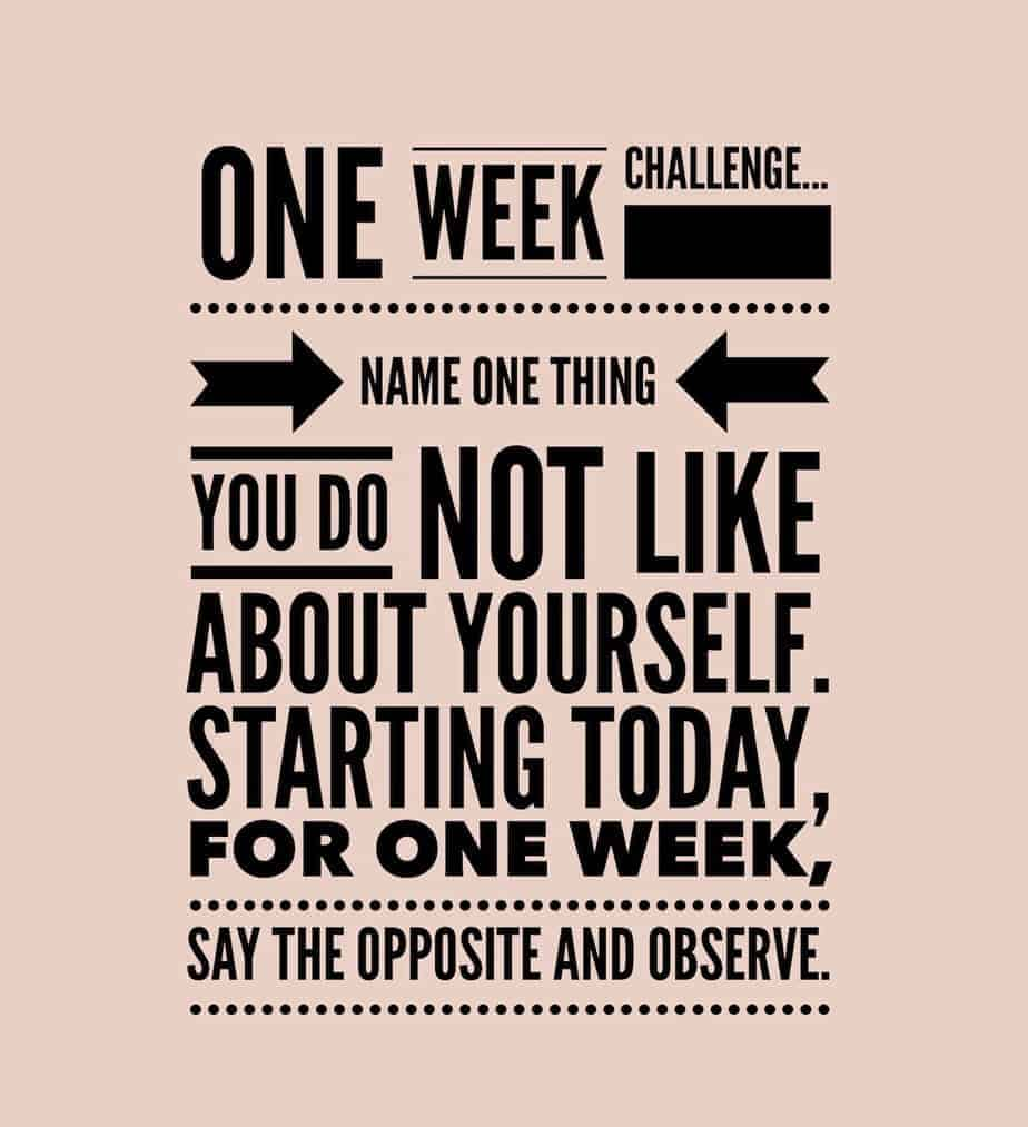 self love one week challenge