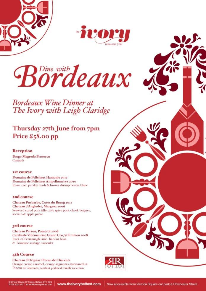Ivory Wine Dinner Poster