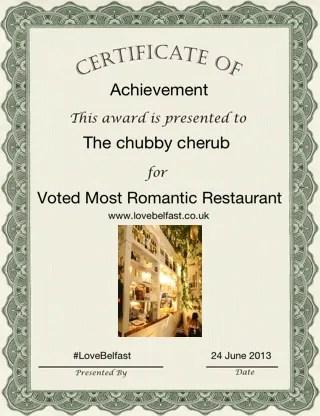 Romantic restaurant Belfast