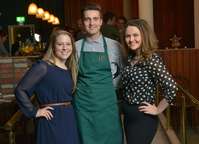 Brittany Breslin, Niall Davis, Co-owner of Howard Street, and Caoimhe McCrystall