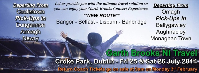 Garth brooks Coach travel