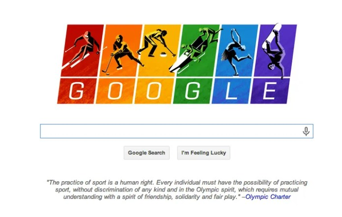 Google Winter Olympics