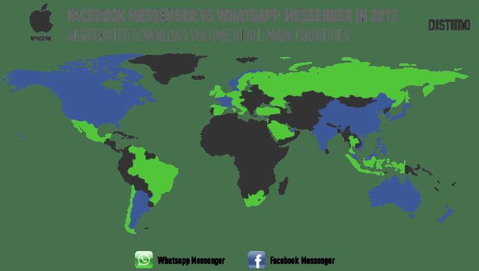 Facebook-Messenger-Vs-Whatsapp-Messenger-Per-Country