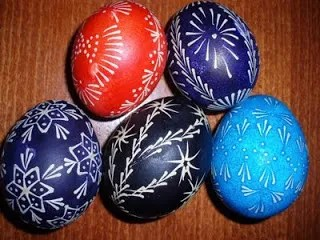 easter eggs wax