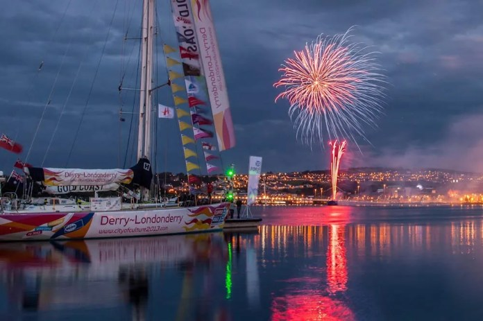 Spectacular fiery river battle to mark the end of the LegenDerry