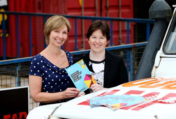 Judith Webb, Tourism Innovation Fund Manager is pictured with Emma Fletcher,