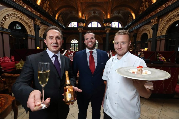 Beverage Manager, Marco Marro; General Manager, Gavin Carroll and head chef, Jonny Leake