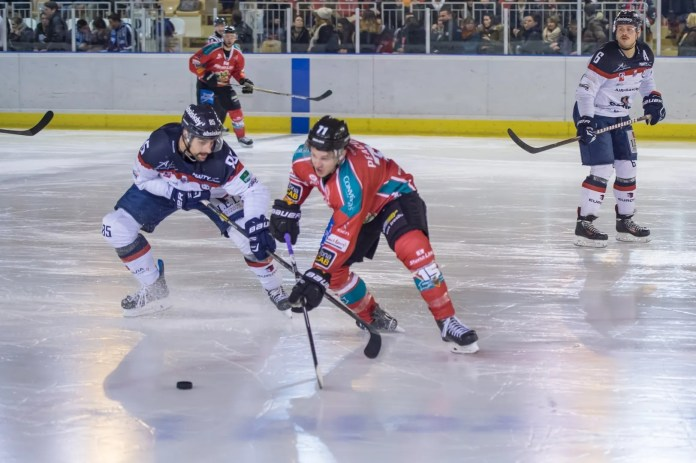 Photos: Tibas Hoult: Craig Peacock in action during the Stena Line Belfast Giants game against the Angers Ducs on Saturday.
