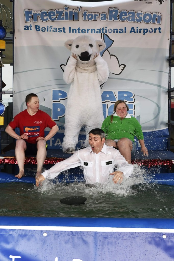 PSNI OFFICERS TAKE THE PLUNGE FOR SPECIAL OLYMPICS ULSTER  AT BELFAST INTERNATIONAL AIRPORT