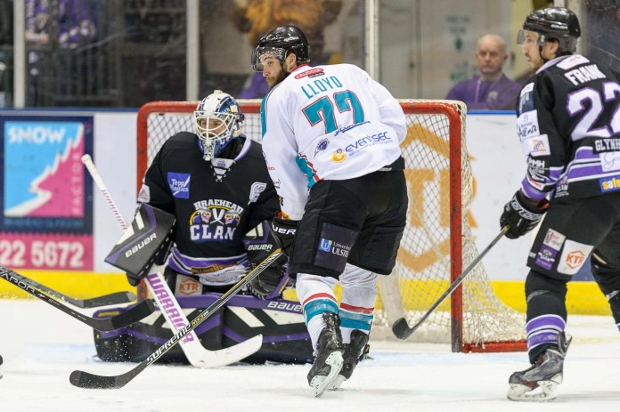 Braehead Clan win 5-2 against Belfast Giants. Popular brit forward, Tristan Harper, gets man of the match for the Clan